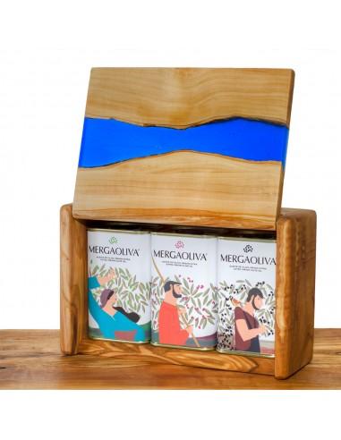 Mergaoliva olive wood and epoxi resin