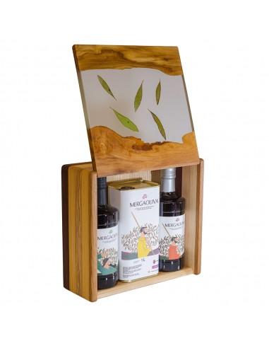 Mergaoliva estuche madera olivo