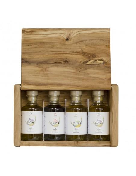 Estuche olivo con 4 miniaturas de 100ml